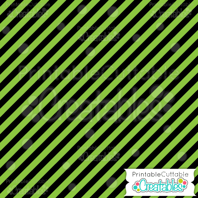 09 Halloween Green Diagonal Stripe Digital Paper Pattern