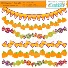Halloween-Treats- SVG cut files Borders