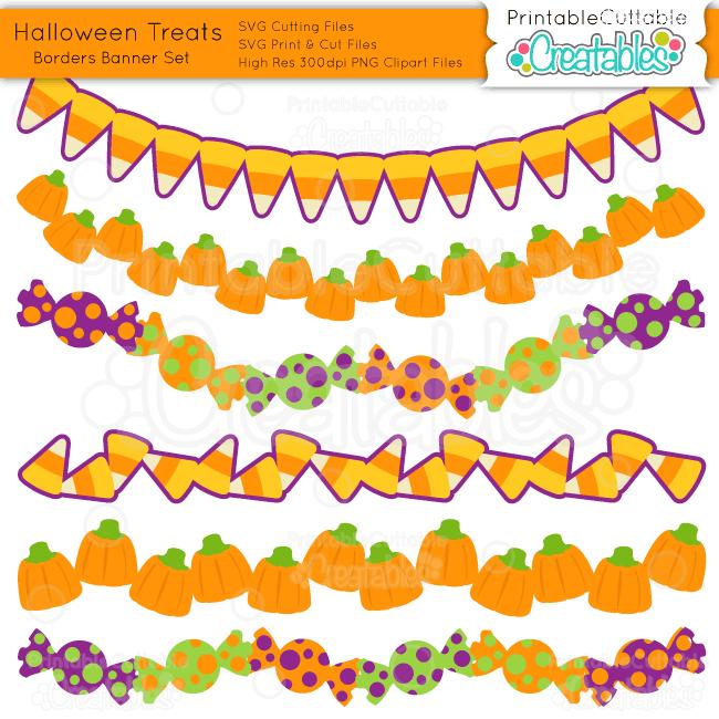 Halloween-Treats- SVG cut files Borders