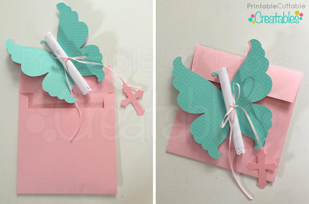 DIY Butterfly Invitations Tutorial SVG Cutting Files