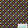 Black-Multi Halloween Polka-Dots Free Digital Paper Printable Pattern