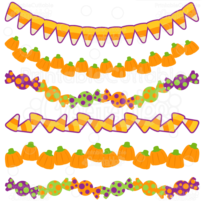 Halloween-Treats-Borders digital cut files