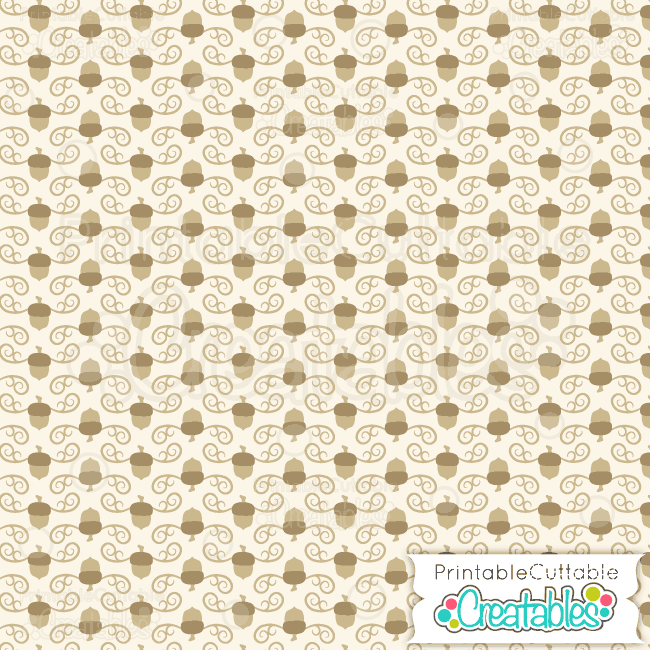 01-Fancy-Swirls-Autumn-Acorns-Printable-Paper