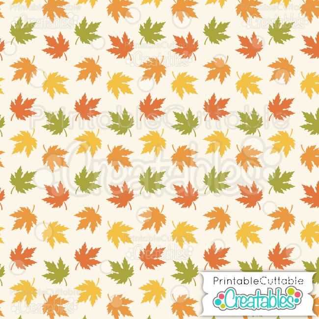 02 Autumn Leaves Digital Paper Pattern