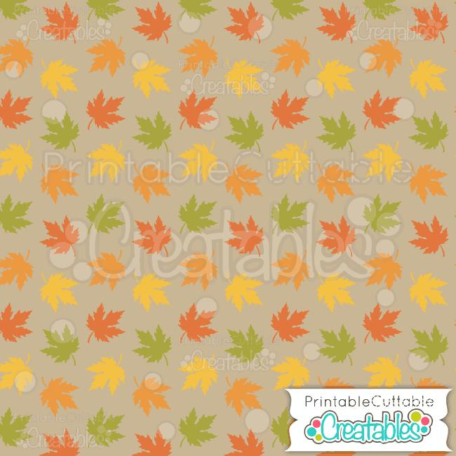 10 Autumn Leaves Fall Digital Scrapbooking Paper