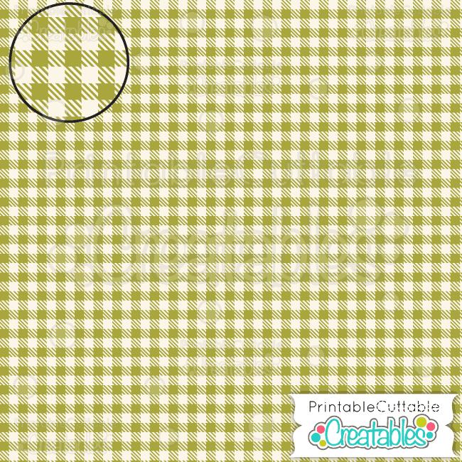 12 Autumn Harvest Green Gingham Seamless Plaid Pattern Digital Paper