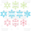 Split, Monogram, & Whole Snowflakes SVG Cut Files & Clipart