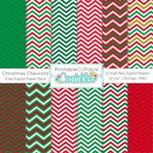 Christmas-Chevron-Free-Digital-Paper-Pack