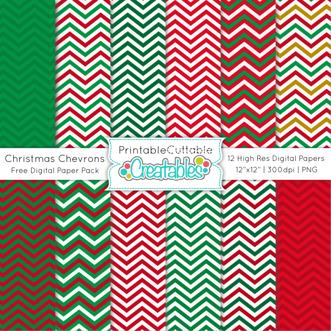 Christmas-Chevron-Free-Digital-Paper-Pack