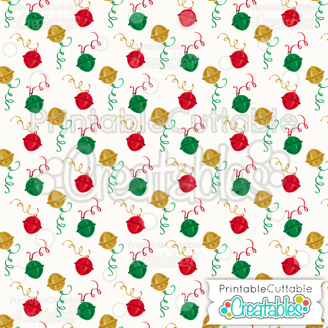 02 Christmas Sleigh Bells Digital Paper Preview