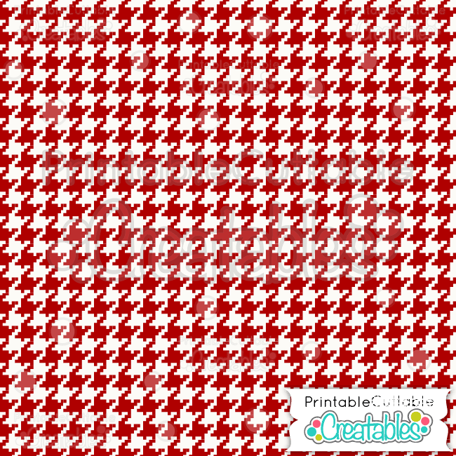 02 Red Cnristmas Houndstooth Digital Paper