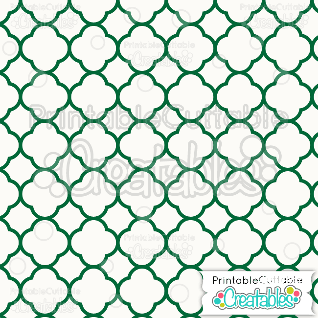 03-Green-Christmas-Quatrefoil-Pattern