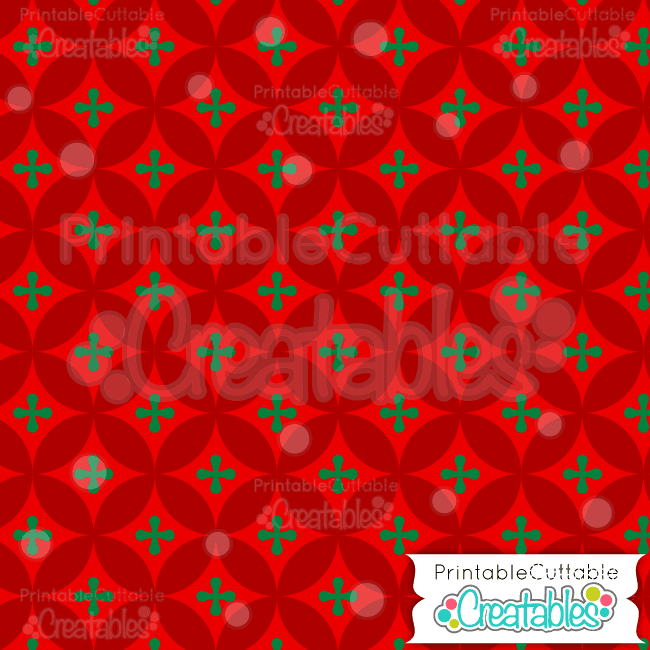 03 Red Interlocking Circles Digital Paper Preview