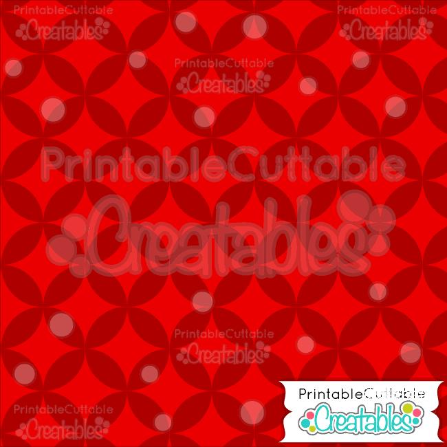 03 Xmas Reds Interlocking Circle Pattern