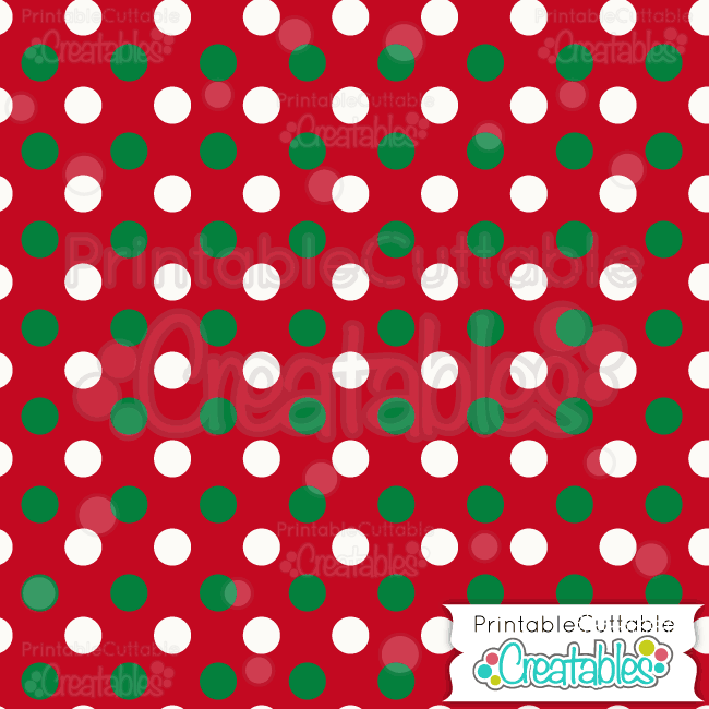 04 Large Christmas Dot Digital Paper Preview.