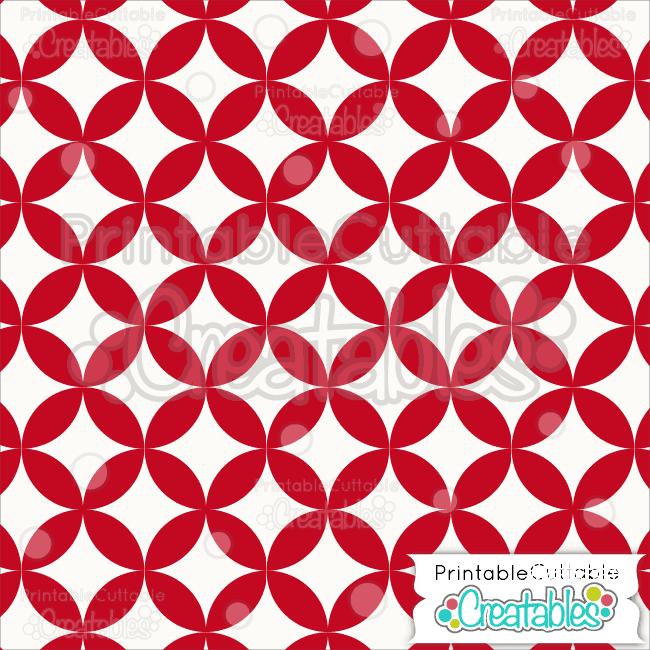 05 Red Interlocking Circle Pattern