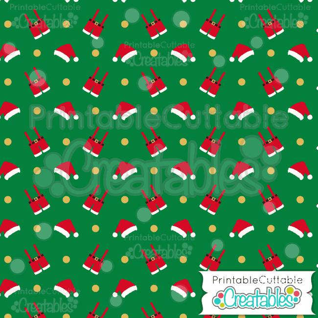 05 Santa Clothes Digital Paper