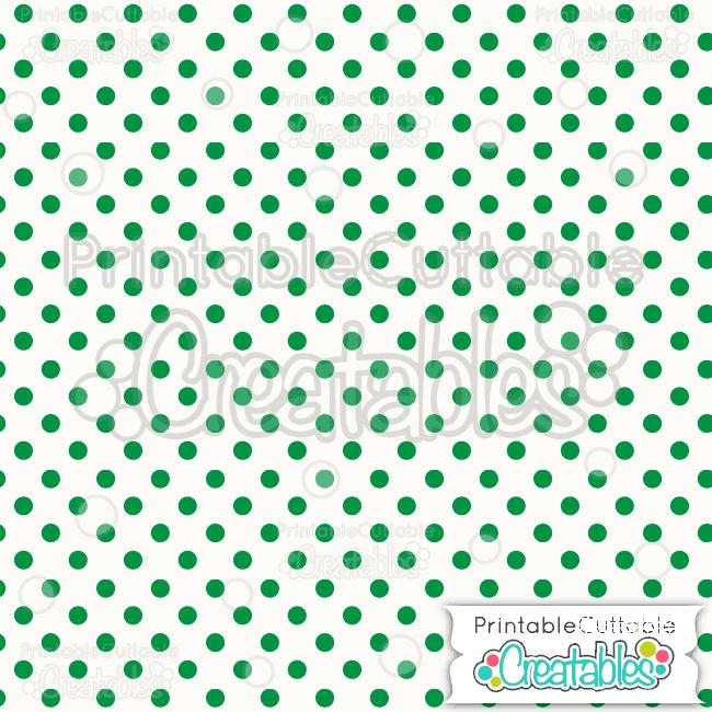 06 Green Polka Dots Digital Paper Pack
