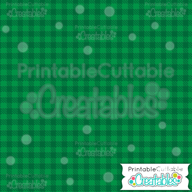 07 Green Cnristmas Plaid Digital Paper