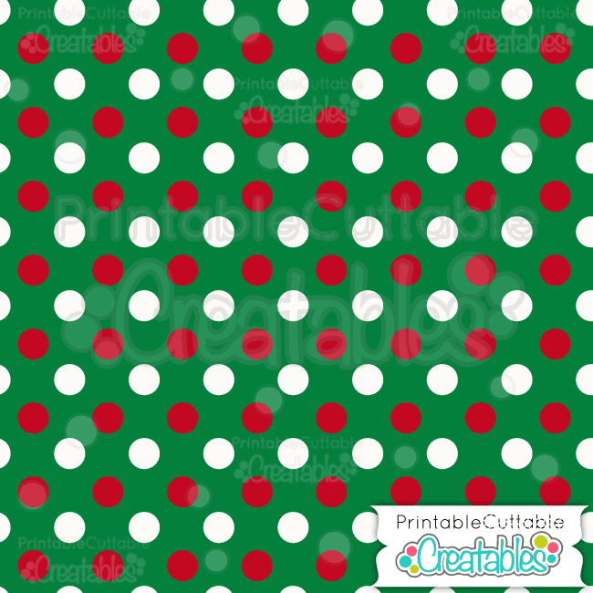 07 Large Xmas Dot Green Digital Paper