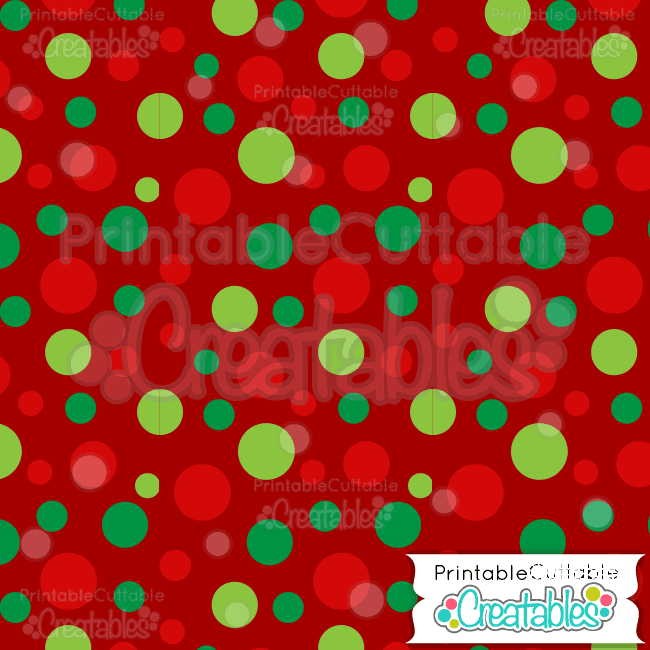 07 Red Large Tossed Dots Digital Paper preview