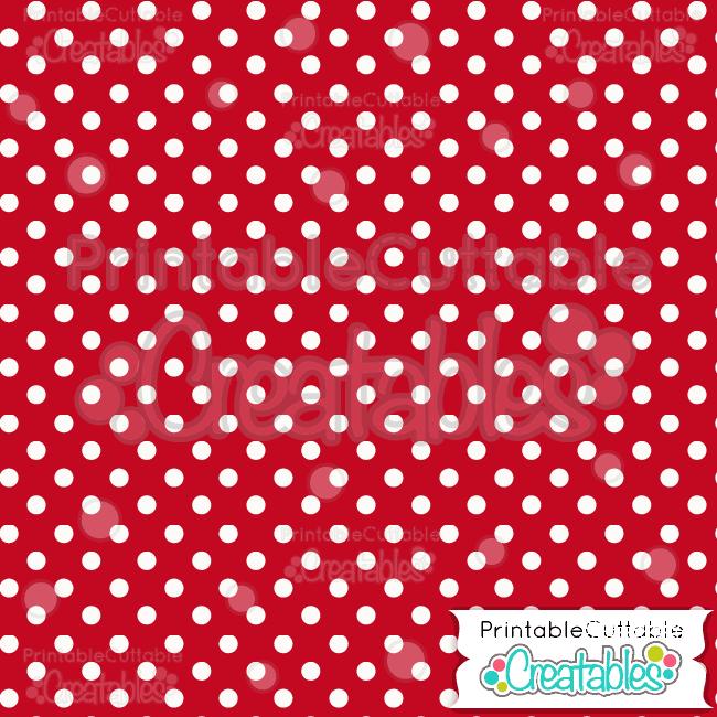 07 Red Polka Dots Digital Paper Pack