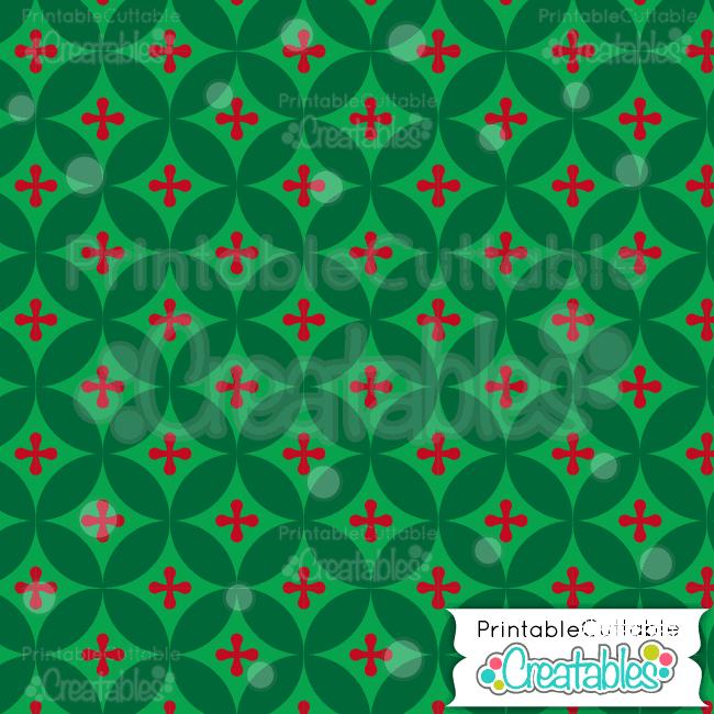 08 Green Interlocking Circles Digital Paper Preview