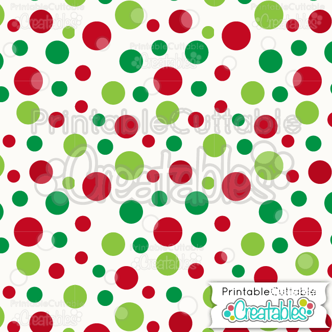 09 Large Tossed Xmas Dots Pattern