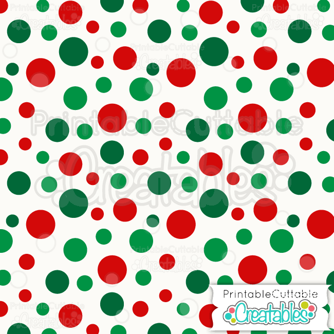 09 Tossed Christmas Dots Digital Paper