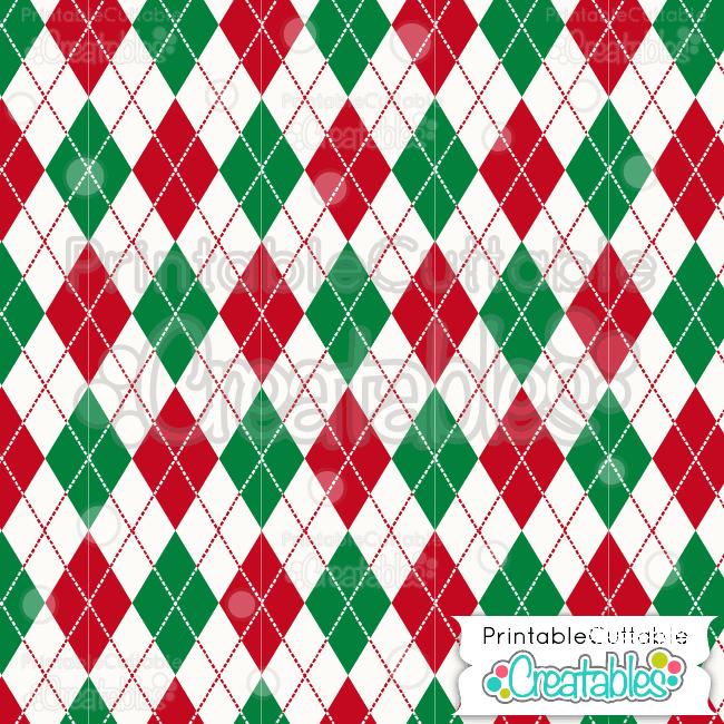 10 Christmas Argyle Pattern
