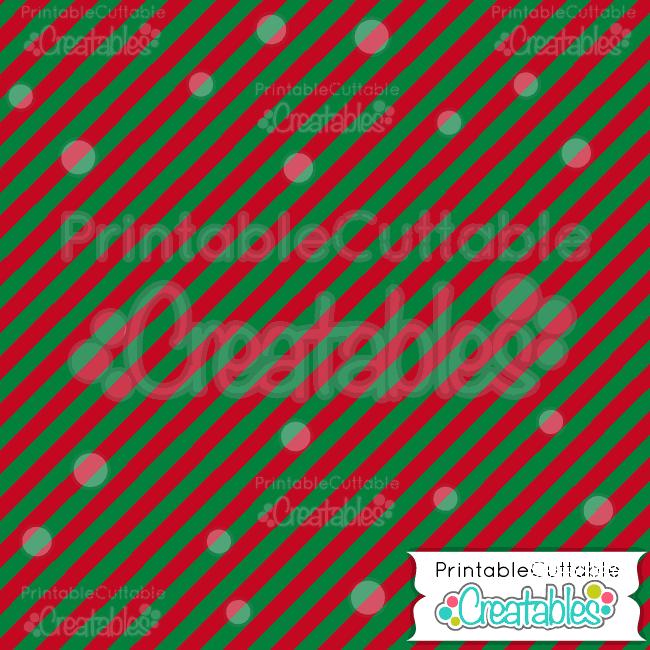 12 Christmas Diagonal Stripe Pattern