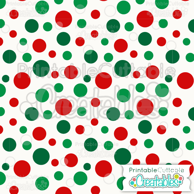 13 Large Tossed Xmas Dots Digital Paper
