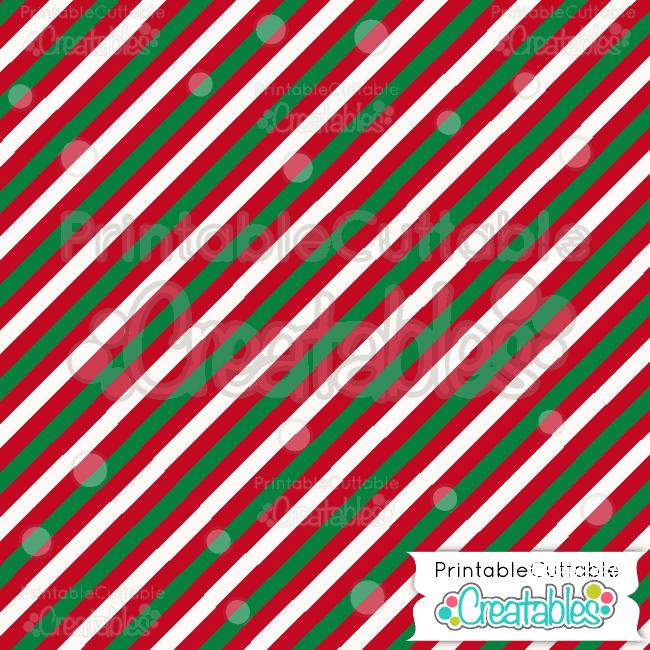 14 Diagonal Christmas Stripe Pattern