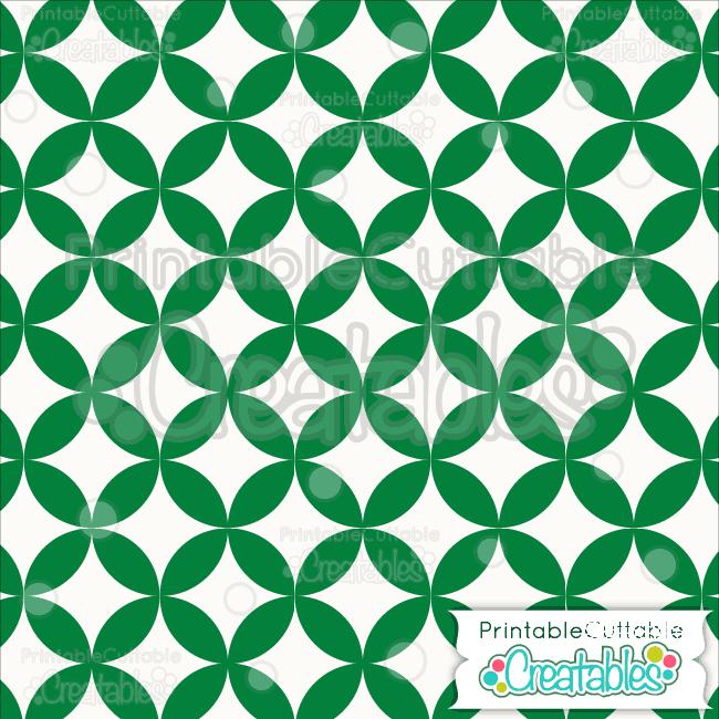 15 Green Interlocking Circle Pattern