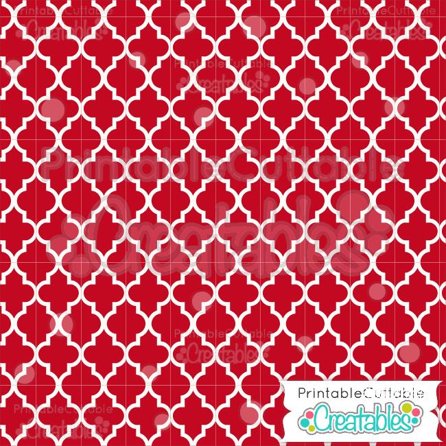 16 Red Quatrefoil Pattern