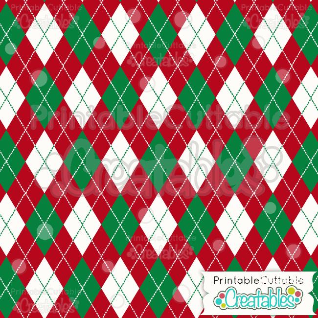 17 Xmas Argyle Printable Pattern