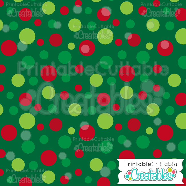 20 Large Tossed Xmas Dots Digital Paper Pack