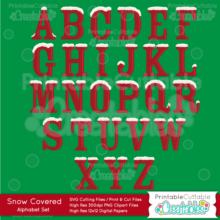 Snow-Covered-Capital-Alphabet-SVG-Cut-Files