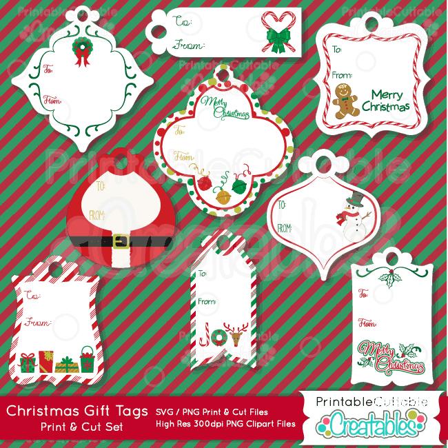 Christmas Gift Tags Print Amp Cut Svg Files