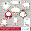 Christmas Gift Tags SVG File