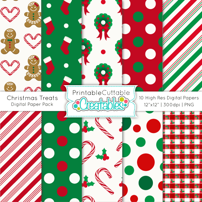 Christmas-Treats-Digital-Paper-Pack