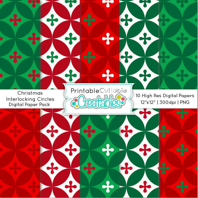 Christmas-Interlocking-Circles-Digital-Paper-Pack
