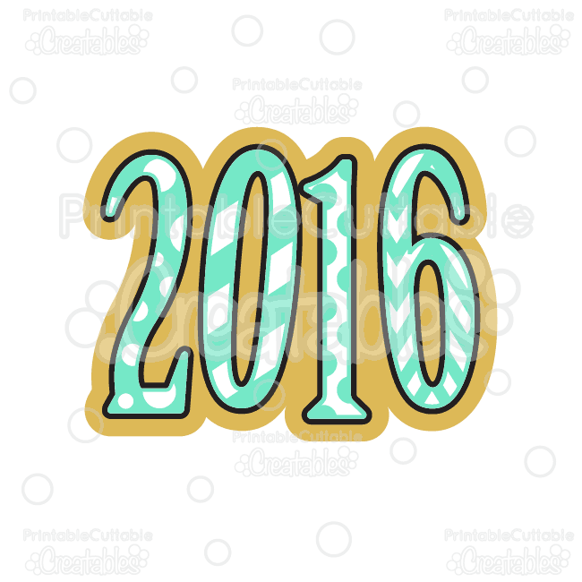 t017fb 2016 new year svg cutting file