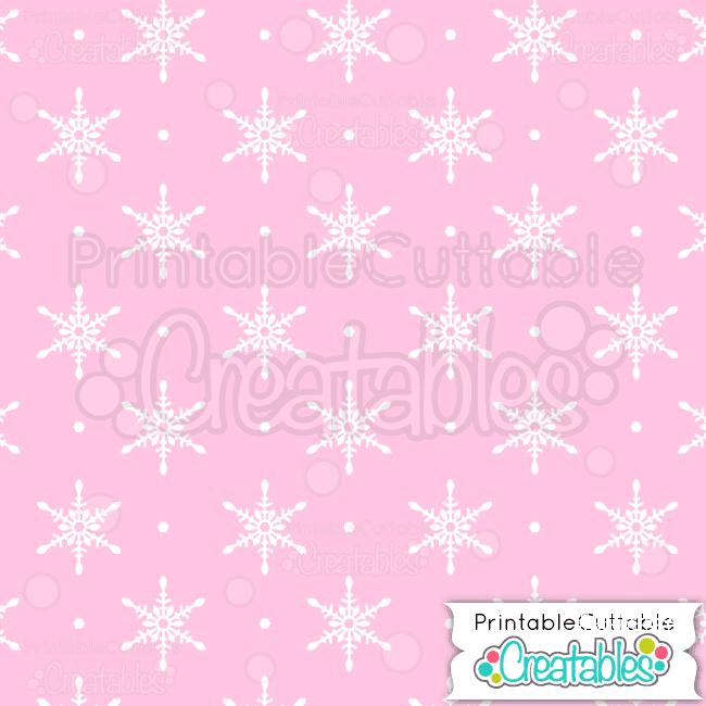 03-Winter-Pink-Snowflake-Pattern