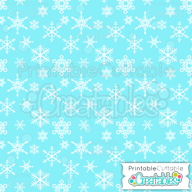 09-Ice-Blue-Falling-Snowflakes-Pattern