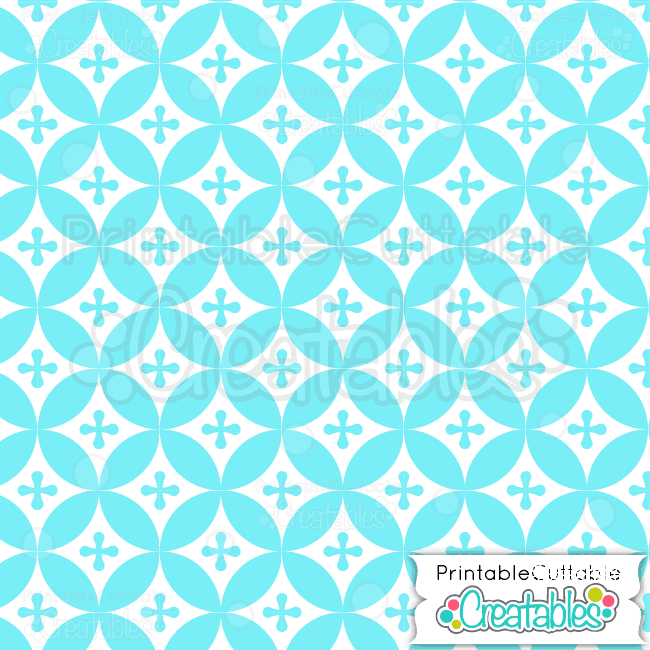 13-Ice-Blue-Interlocking-Circles-Pattern