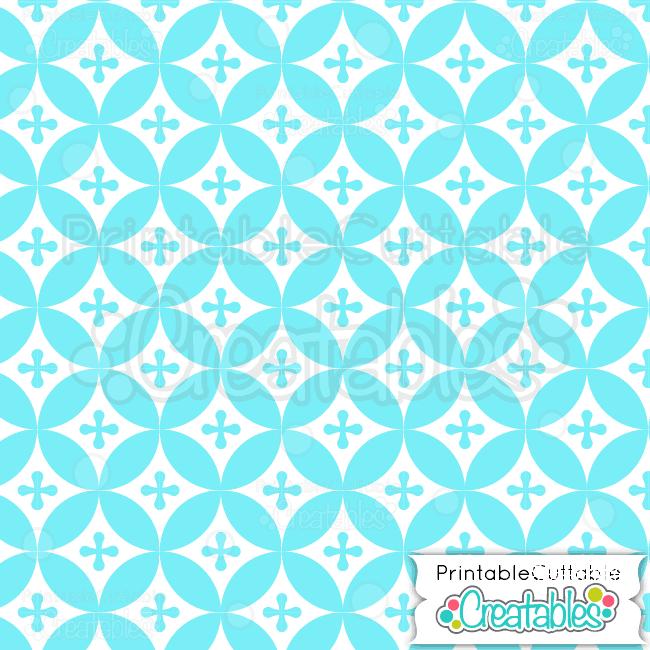 13-Ice-Blue-Interlocking-Circles-Pattern