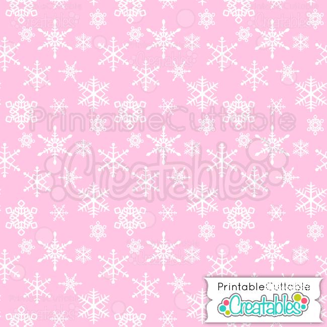 15-Winter-Pink-Falling-Snowflakes-Pattern