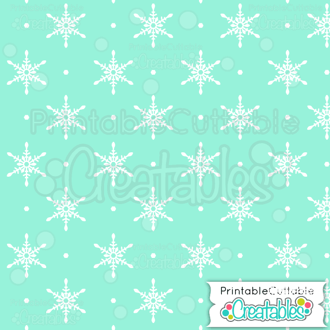 18-Winter-Mint-Snowflake-Pattern