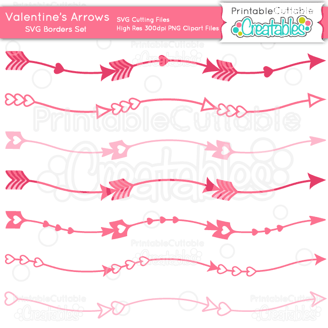 Valentines-Arrows-Border-Set-SVG-Files-Clipart